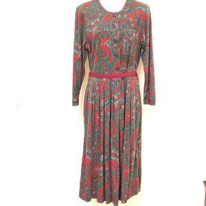 MAGGIE LONDON Vtg paisley prairie dress nwot med